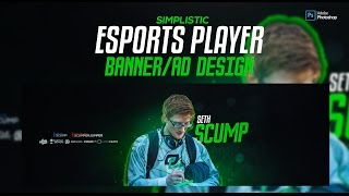 Photoshop Tutorial: Simplistic Esports Player Banner/Ad Design