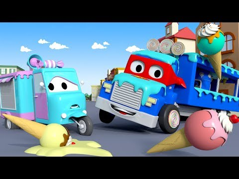 The ICE CREAM TRUCK - Carl the Super Truck in Car City | Chi