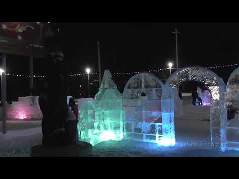 Городская ёлка, город Саянск, Иркутская область  Небольшой новогодний репортаж