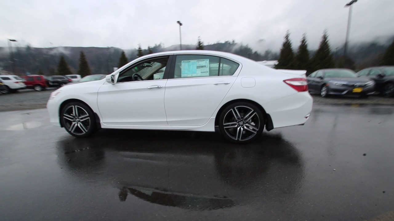 2017 Honda Accord Touring White Orchid Ha017987 Seattle