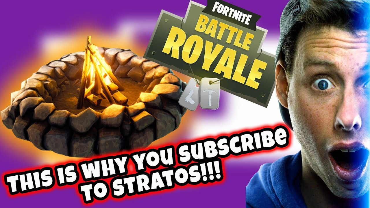 THIS IS WHY YOU SUBSCRIBE! CAMPFIRE VICTORY ROYALE! (Fortnite Battle Royale!)