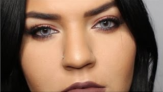 Easy Exotic Chocolate Cranberry Smokey Eye | Full Face | Malerie Mosier