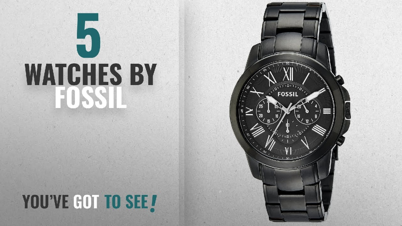 Top 10 Fossil Watches  2018   Fossil Grant Chronograph Analog Black Dial  Men s Watch - FS4832 3887365635