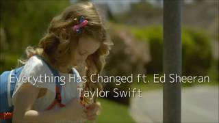 Everything Has Changed ft. Ed Sheeran - Taylor Swift (日本語字幕)