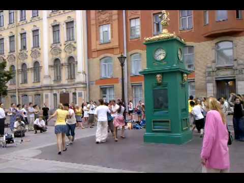 dancing in the streets of St. Petersburg
