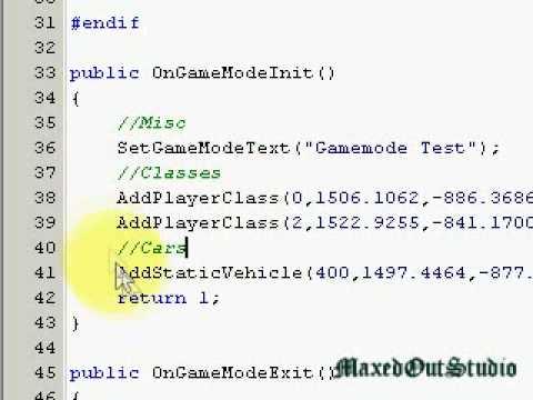 SA-MP Scripting Tutorial 2 - Simple DM Script