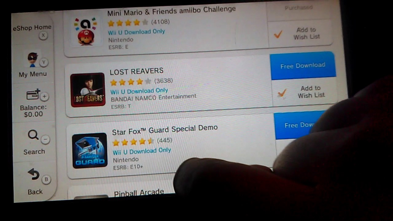 Nintendo wii u download code choice of 10 games for sale in.