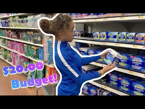 $20.00 Period Supplies Shopping Budget🤯