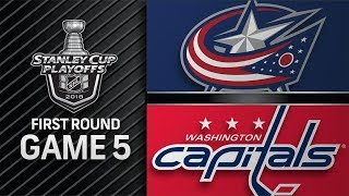 Columbus Blue Jackets vs Washington Capitals – Apr. 21, 2018 | Game 5 | Stanley Cup 2018. Обзор