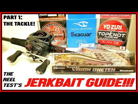 JERKBAIT GUIDE PART 1: THE TACKLE! RODS, REELS, LINE, JERKBAITS....