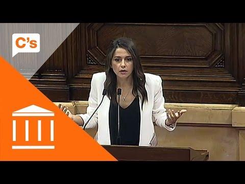 Inés Arrimadas - Réplica en pleno sobre la moción de confianza al president Puigdemont