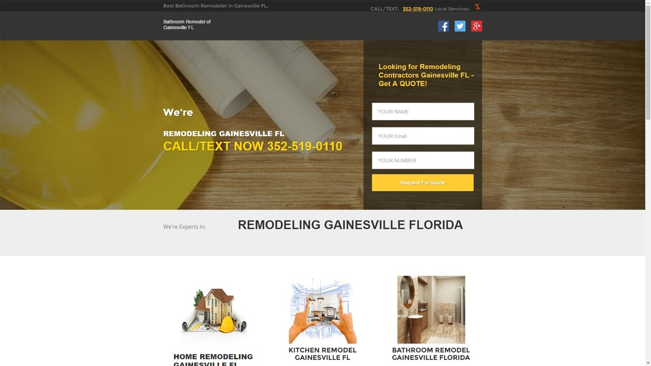 Bathroom Remodel Gainesville FL - 352-519-0110 - YouTube