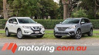 2018 Nissan X-TRAIL v Peugeot 5008 Comparison | motoring.com.au