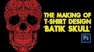 the making of batik skull design (English Subtitle)