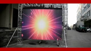 Outdoor mobile P6mm flexible LED video curtain panel display portable for rental,tours,live show