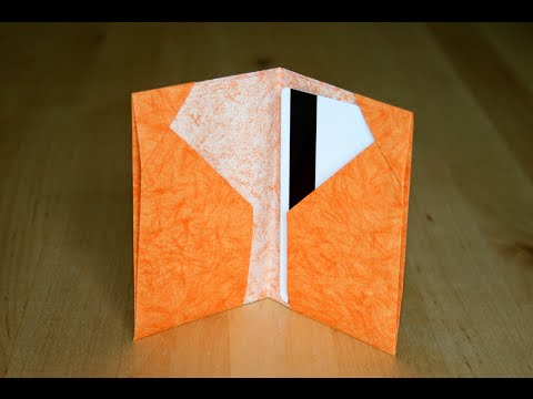 Origami porte cartes cards holder senbazuru youtube - Faire un porte boucle d oreille ...