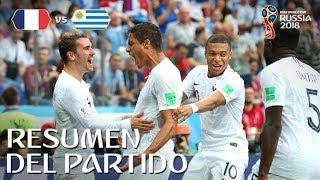 FRANCIA VS URUGUAY 2-0 | Rusia 2018 - Resumen & Goles del partido desde el estadio