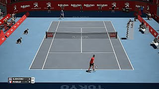 Novak Djokovic vs Lucas Pouille Japan Open 2019 - AO International Tennis Gameplay