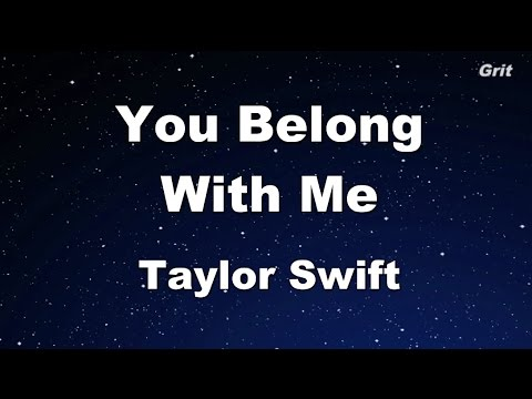 You Belong With Me  Taylor Swift Karaoke【With Guide Melody】