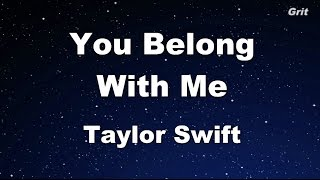 You Belong With Me - Taylor Swift Karaoke【With Guide Melody】
