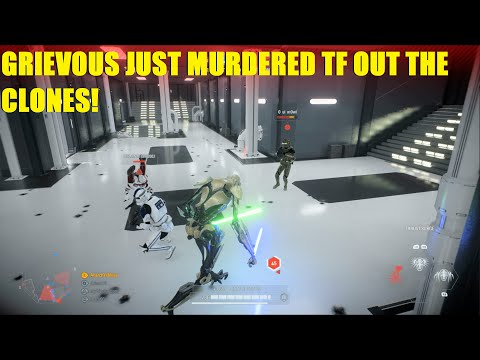 Star Wars Battlefront 2 - General Grievous Just Murdered TF Out Of The Clones! The Hallways Of Doom!