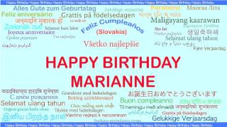 Marianne   Languages Idiomas - Happy Birthday