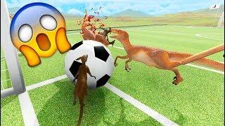 CANGUROS ASESINOS VS RAPTORS! QUIEN GANARÁ!? Beast Battle Simulator #5