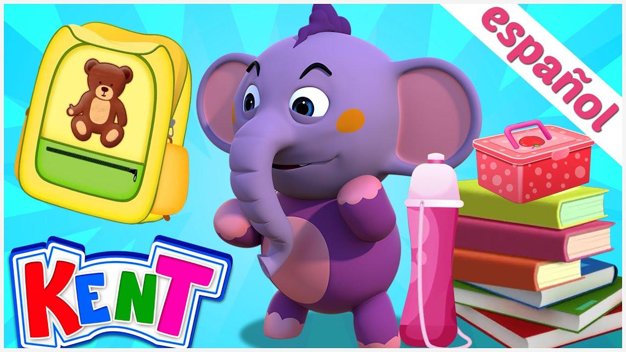 Kent y sus cosas de su mochila escolar | Kent el Elefante