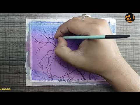 Easy Watercolor Nature – Tutorial for Beginners, Step By Step