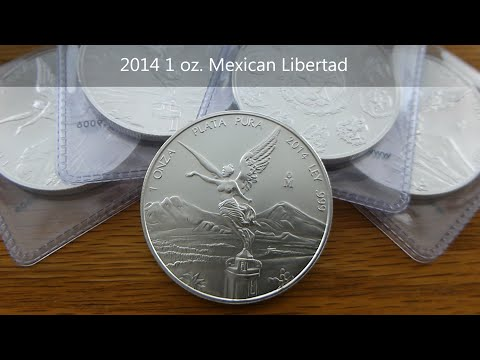 Libertads and Mexican coins