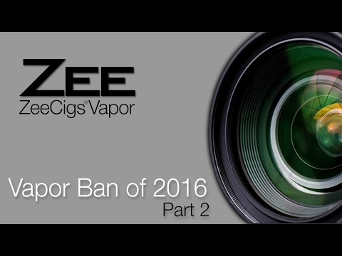 """Part 2"" - Electronic Cigarette FDA Ban 2016 Death Of Vapor eCigs in USA Vape"