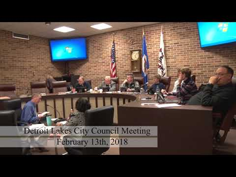 City of Detroit Lakes February 2018 Council Meeting