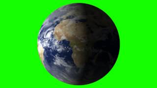 earth in green screen free stock footage