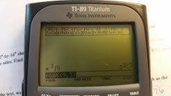 How to find cube Root on ti 89 titanium