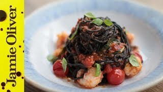 Langoustine & Squid-Ink Spaghetti