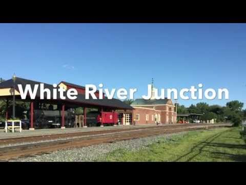 Amtrak Vermonter & The New England Central Railway  White River Junction  Vermont