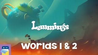 Lemmings: Worlds 1 & 2 Walkthrough Guide & iOS / Android Gameplay (by SAD PUPPY)