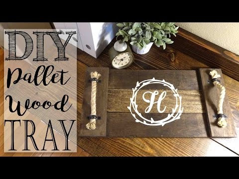 DIY Pallet Wood Monogram Tray