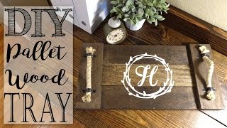 DIY Pallet Wood Monogram Tray