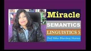 Linguistics 5 : SEMANTICS [ For all English Literature, Language & CBSE UGC NET students ]