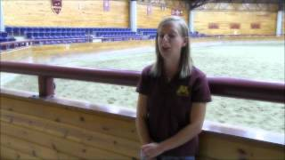 Equine Science at the University of Minnesota, Crookston - Instructor Brooke Leininger