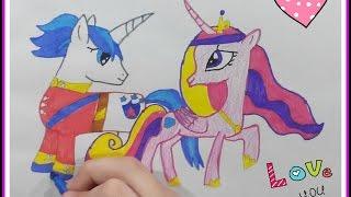 Как нарисовать принцессу Каденс и Шайнинг Армор Май Литл Пони(Сегодня рисую романтическую пару принцессу Каденс и Шайнинг Армора. Как вам? Мне понравилось! Буду еще их..., 2016-04-13T15:03:37.000Z)