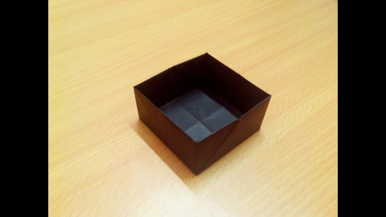how to make a square origami box step by step youtube