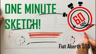How to sketch in 60 seconds - Fiat Abarth 595 thumbnail