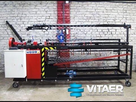 Станок для сетки рабицы автомат СА-3 с высотой полотна сетки 3 метра