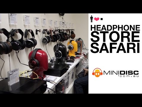 Headphone Store Safari: Minidisc Australia Showroom!