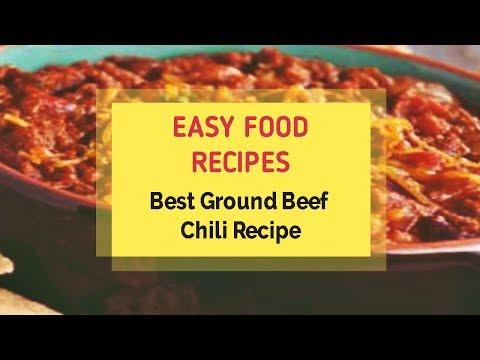 Best Ground Beef Chili Recipe