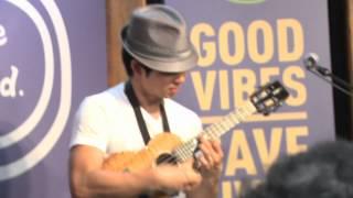 Jake Shimabukuro performing at the Life is good store in Boston.