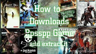 How to download and extract ppsspp game