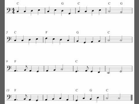 image relating to Free Printable Trombone Sheet Music referred to as Absolutely free very simple trombone sheet tunes ranking, Yankee Doodle